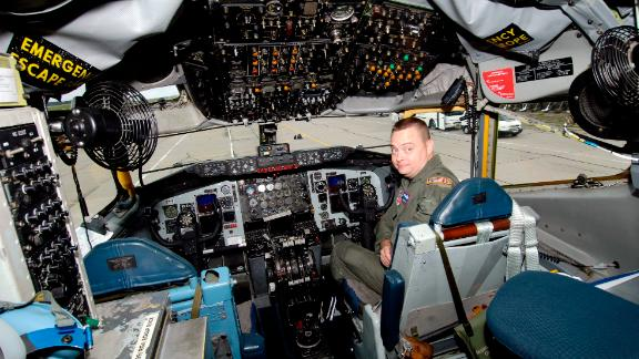 Pilot Chris Bain in a cockpit of U.S.  Boeing B-707 OC-135B Observation Aircraft on the military airbase in Pardubice, Czech Republic, Tuesday, July 31, 2007,  where a 31-member team of U.S. experts began training for surveillance missions to check military facilities in the Czech Republic within the Treaty on Open Skies. (AP Photo/CTK, Alexandra Mlejnkova) ** SLOVAKIA OUT **
