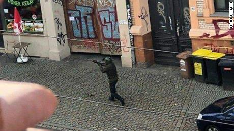 A photo of the alleged gunman in Halle.
