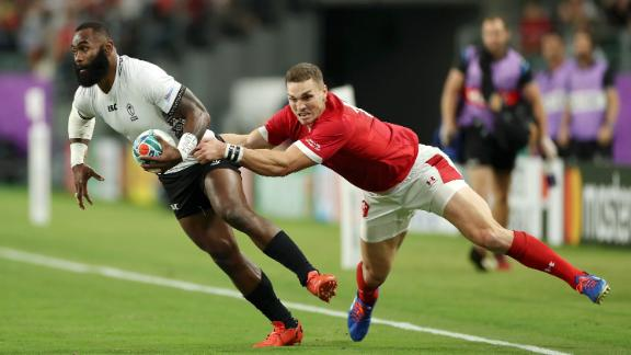 Fiji winger Semi Radradra was given the man-of-the-match award for his strong performance. His quick feet, powerful running and slick offloads caused Welsh defenders problems throughout the game.