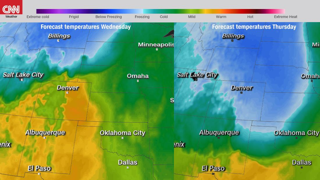 温度が50℃、24時間先までの歴史的な大雪