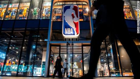 The NBA flagship retail store is seen on October 9, 2019 in Beijing, China.