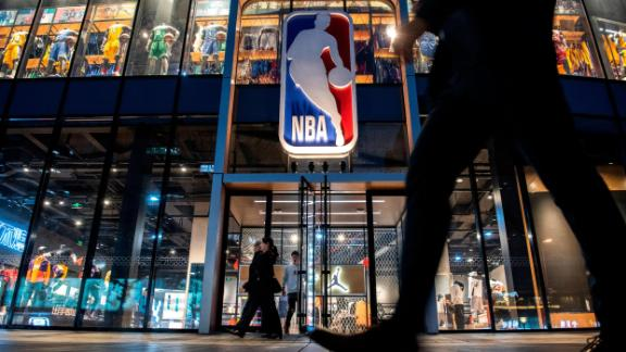BEIJING, CHINA - OCTOBER 09: The NBA flagship retail store is seen on October 9, 2019 in Beijing, China. The NBA is trying to salvage its brand in China amid criticism of its handling of a controversial tweet that infuriated the government and has jeopardized the league