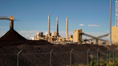CASTLE DALE, UT - JUNE 19:  Large coal piles sits in front of PacifiCorps, Hunter, 1,320 megawatt coal fired power plant on June 19, 2019 in Castle Dale, Utah. Today the EPA rolled back limits on coal fired power plants.  (Photo by George Frey/Getty Images)