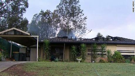 A fire broke out in George Rutonski's home in Sydney, Australia, on October 7, 2019.