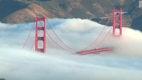 Tower camera captures incredible fog over Golden Gate