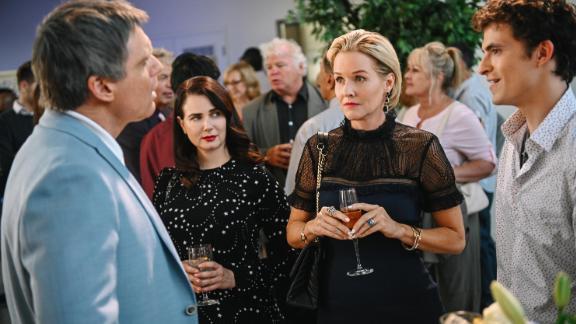 Michael Shanks, Mia Kirshner, Penelope Ann Miller and Sam Duke in 'The College Admissions Scandal'