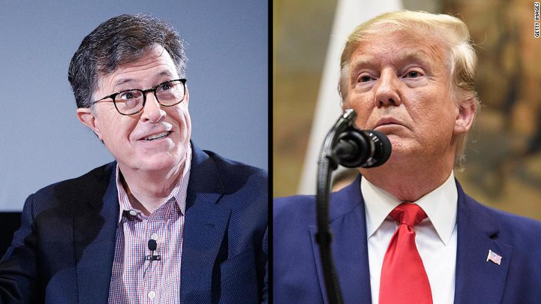 Late Night Talk Show Ratings 2020.Colbert Says Trump Has Caused Constitutional Crisis