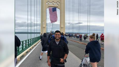 Travis Snyder walked 810 miles in 42 days to raise awareness for veteran suicide prevention.