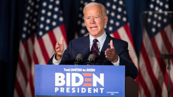 Democratic presidential candidate, former Vice President Joe Biden speaks during a campaign event on Wednesday, October 9 in Rochester, New Hampshire. For the first time, Biden has publicly called for President Trump to be impeached.