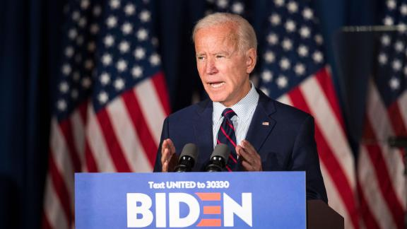 Democratic presidential candidate, former Vice President Joe Biden speaks during a campaign event on Wednesday, October 9 in Rochester, New Hampshire.