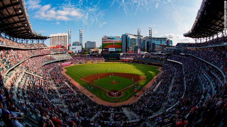 The Braves played the Cardinals on Wednesday at SunTrust Park near Atlanta.