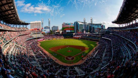 The Braves played the Cardinals on Wednesday at SunTrust Park near Atlanta.