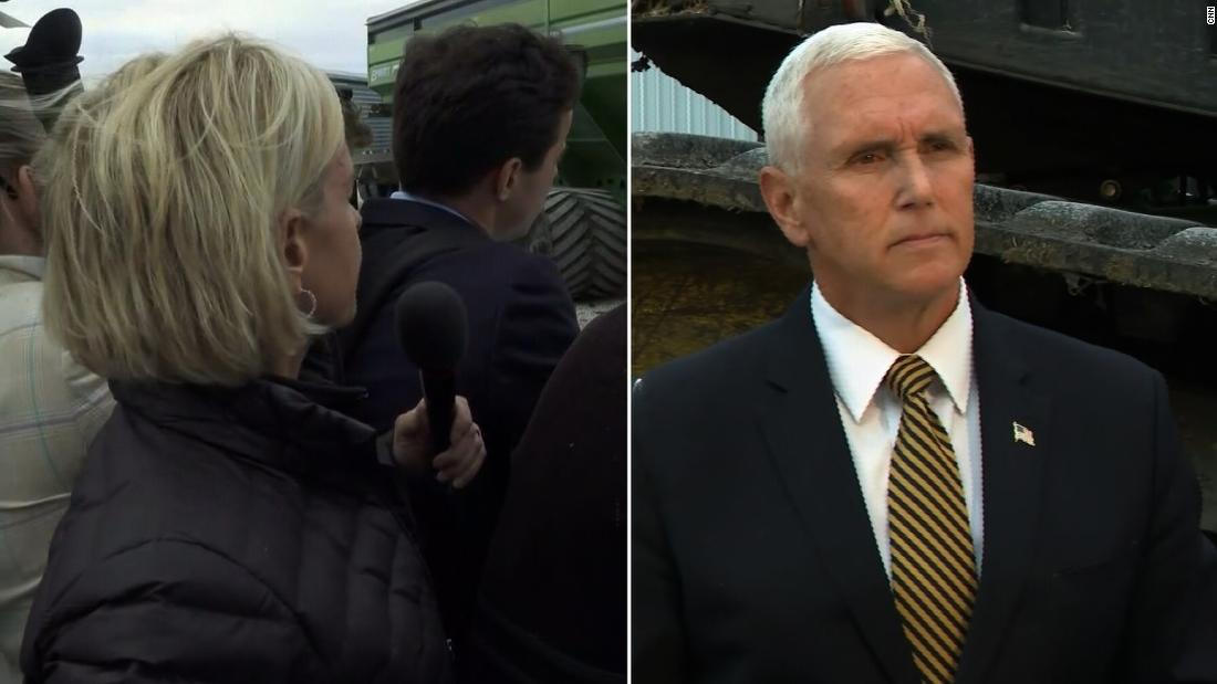 Pence's response to question left Cooper astonished