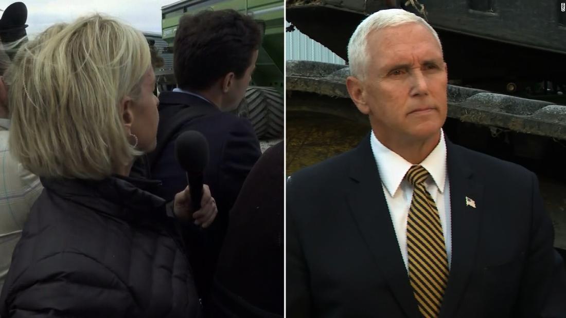 Vice President Pence's response leaves Cooper incredulous