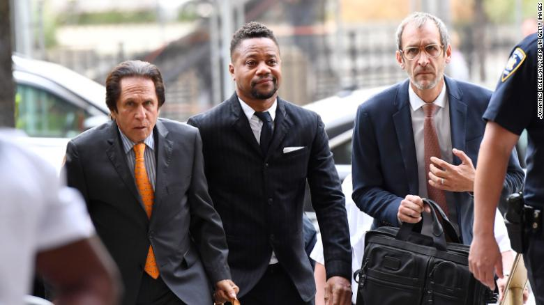 Cuba Gooding Jr. arrives to a court hearing on Thursday. (Photo by JOHANNES EISELE/AFP via Getty Images)
