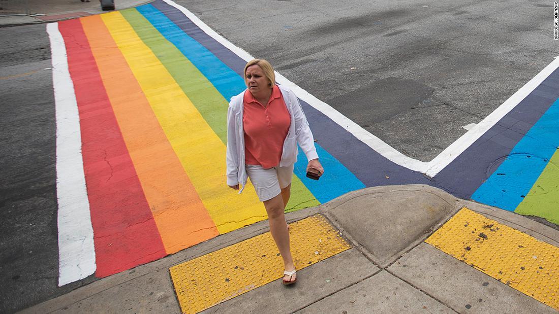 アトランタ守その虹の横断歩道横断シンボルとしての誇り
