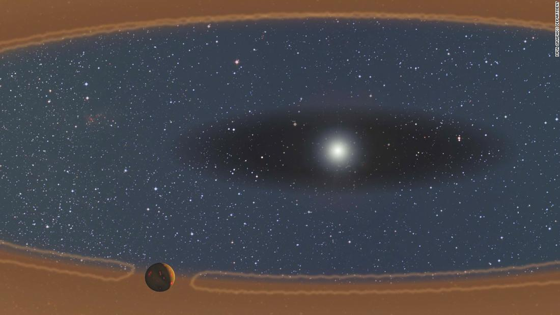 "This illustration shows a young, forming planet in a ""baby-proof"" star system."