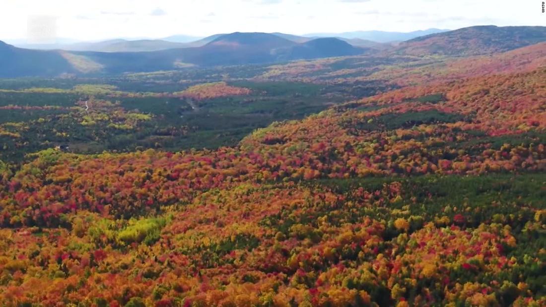 Drone menangkap warna musim gugur yang indah