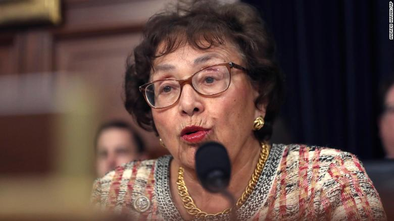 In this April 2019, file photo, Rep. Nita Lowey, D-N.Y., speaks during a hearing on Capitol Hill in Washington.