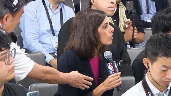CNN's Christina Macfarlane was shut down as she tried to ask her question.