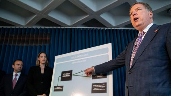 Geoffrey Berman, US Attorney for the Southern District of New York, speaks during a press conference on October 10, 2019 in New York City.