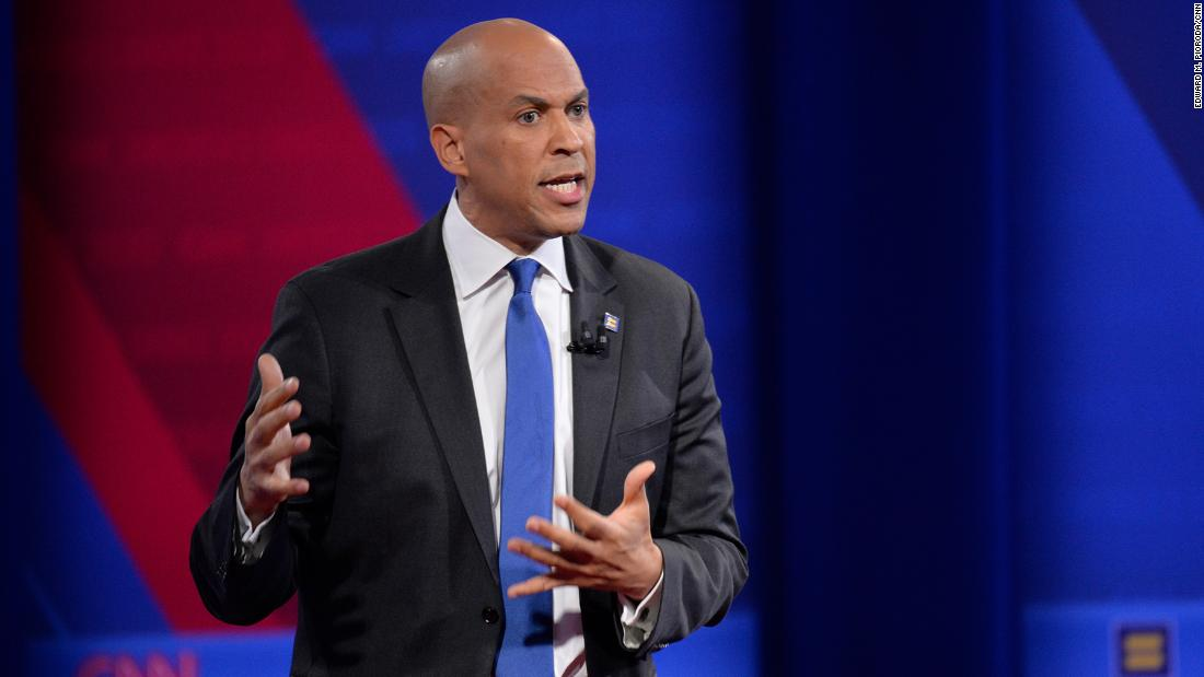 Cory Booker cites this Bible verse when asked about LGBTQ rights