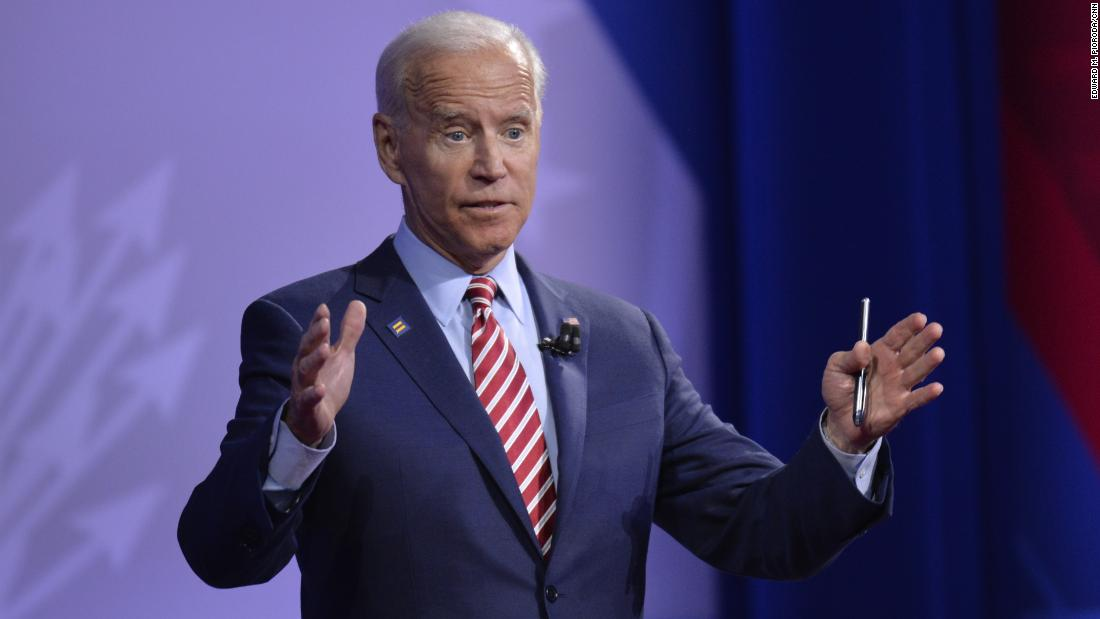Biden has a moment of levity, misspeaks: 'When I came out...'