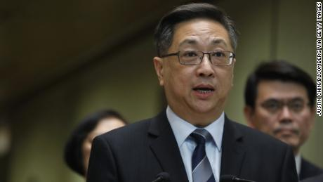 Stephen Lo, Hong Kong's police commissioner, speaks during a news conference on July 22.