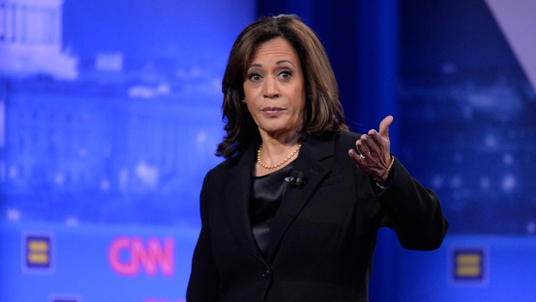 Harris tells emotional story at CNN Equality Town Hall
