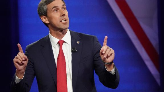 LOS ANGELES, CALIFORNIA - OCTOBER 10: Democratic presidential candidate former U.S. Rep. Beto O'Rourke (D-TX) speaks at the Human Rights Campaign Foundation and CNN presidential town hall focused on LGBTQ issues on October 10, 2019 in Los Angeles, California. It is the first Presidential event broadcast on a major news network focused on LGBTQ issues.   (Photo by Mario Tama/Getty Images)