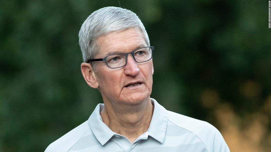 Apple CEO Tim Cook defends decision to remove an app used by Hong Kong protesters