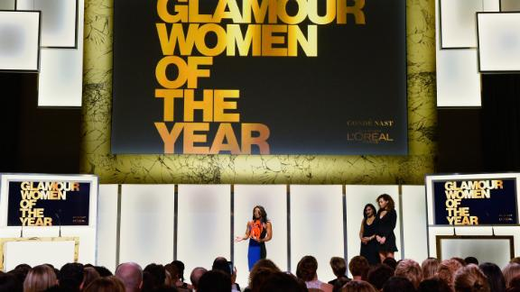 Biles speaks onstage during Glamour Women Of The Year 2016.
