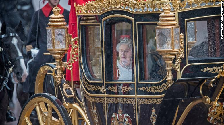 Duke of Edinburgh and Queen Elizabeth II in the Jubilee State Carriage in 2016.