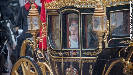 Duke of Edinburgh and Queen Elizabeth II in the Jubilee State Carriage in 2016.