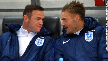Wayne Rooney and Jamie Vardy in happier times.