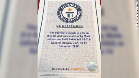 The family's world record certificate from the Guinness Book of World Records.
