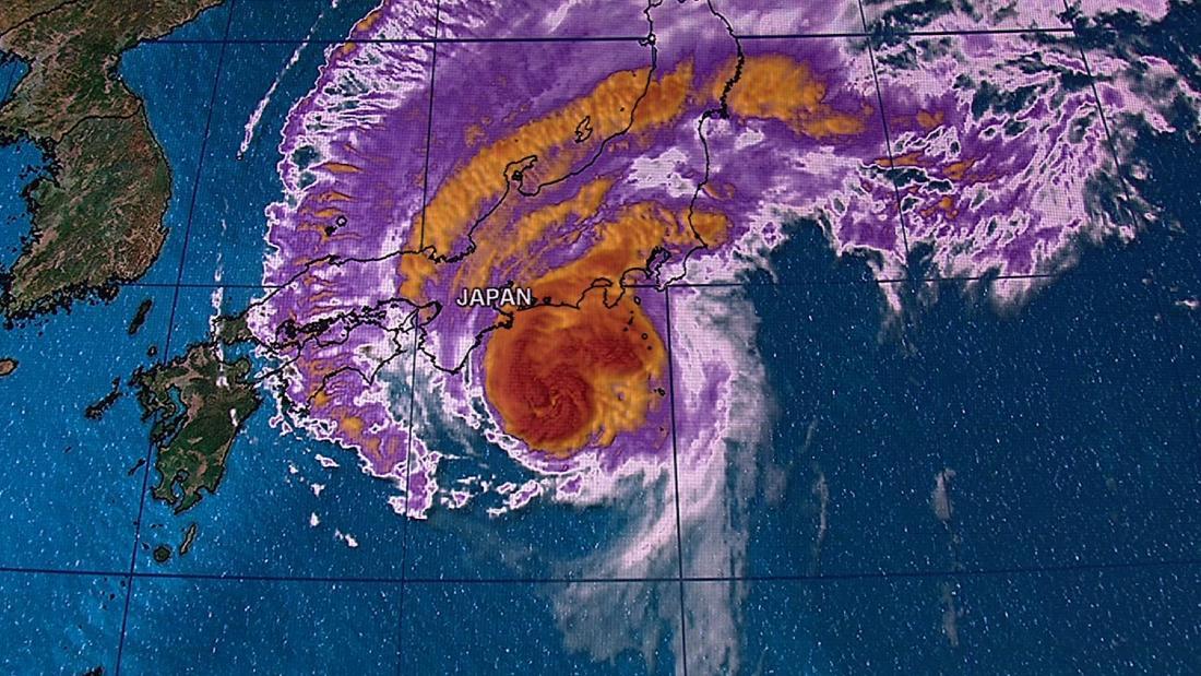 Taifun Hagibis bewegt sich schnell in Richtung Japan