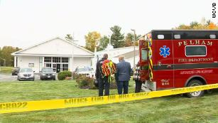 Two people were shot when a gunman opened fire during a wedding at New England Pentecostal Ministries in Pelham, New Hampshire on Saturday, October 12, police said.