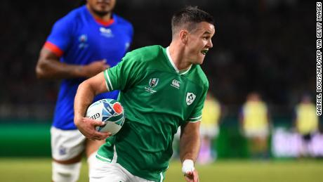 Ireland's fly-half Jonathan Sexton scored 18 points against Samoa.
