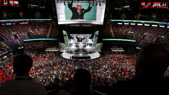 Giuliani speaks during the Republican National Convention in July 2016.