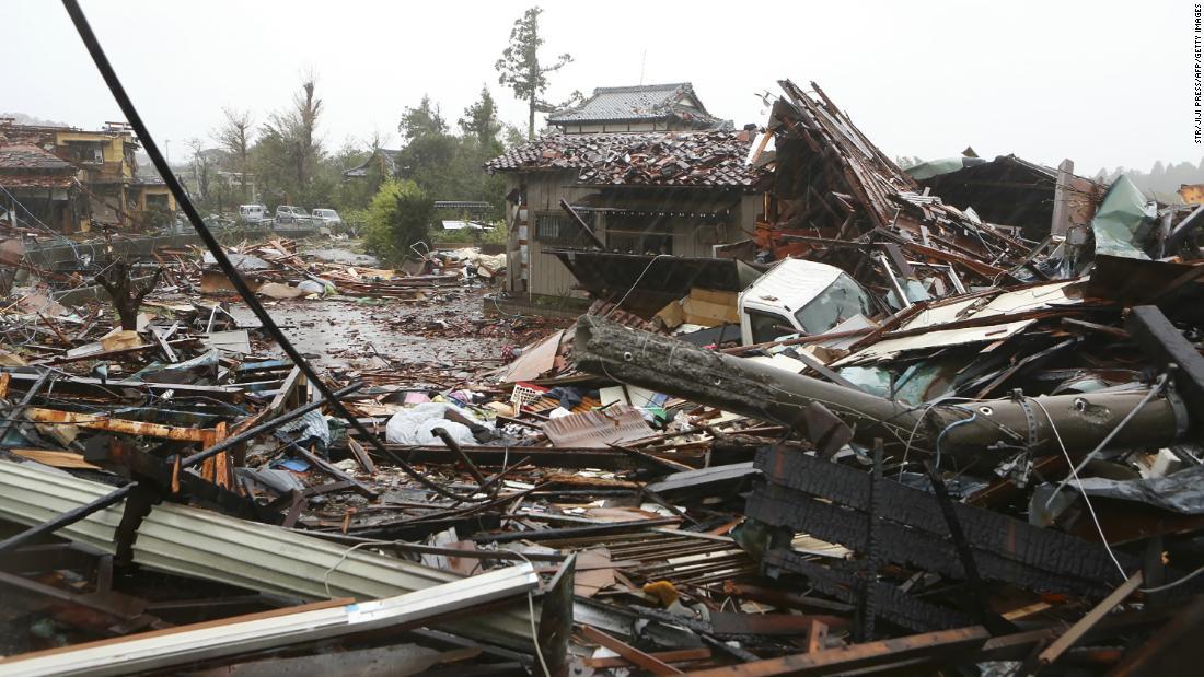 回復が始まると日本の台風Hagibis葉道の死と破壊