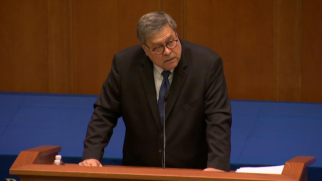 Barr slams attacks on religious values, says 'moral upheaval' leading to societal ills