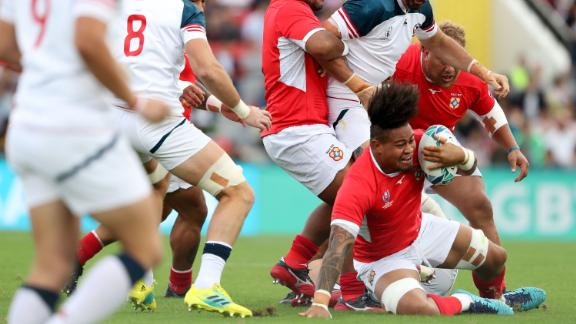 Tonga came back in the second half for a final score of 31-19, marking the team's first win at the 2019 Rugby World Cup and fourth spot in Pool C.