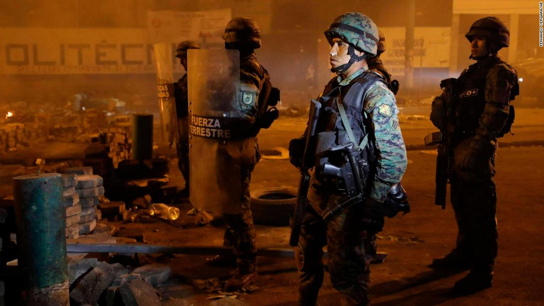 Ecuador extends curfews after violent protests