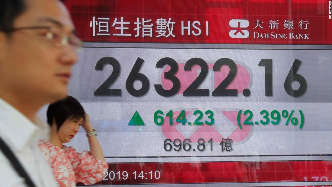 Asian markets move higher after Trump announces initial trade agreement with China
