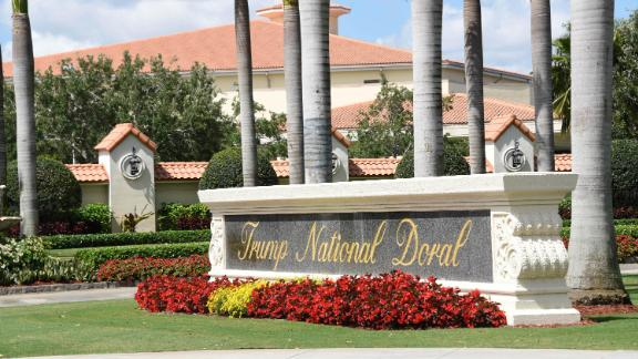 View leading into Trump National Doral in Miami, Florida in April 2018.