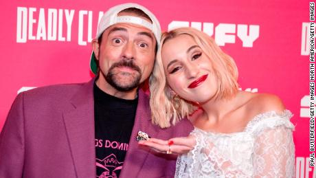 Kevin Smith and daughter Harley Quinn Smith. (Photo by Paul Butterfield/Getty Images)