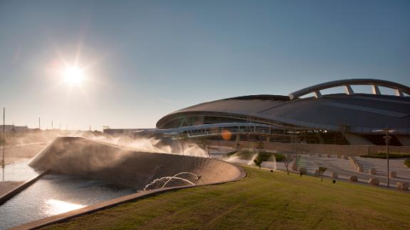 The sun begins to set on the multi-million-dollar Al Shaqab facility, the exact cost of which has been kept under wraps.