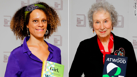 Bernardine Evaristo (left) and Margaret Atwood (right) shared the Booker Prize this year.