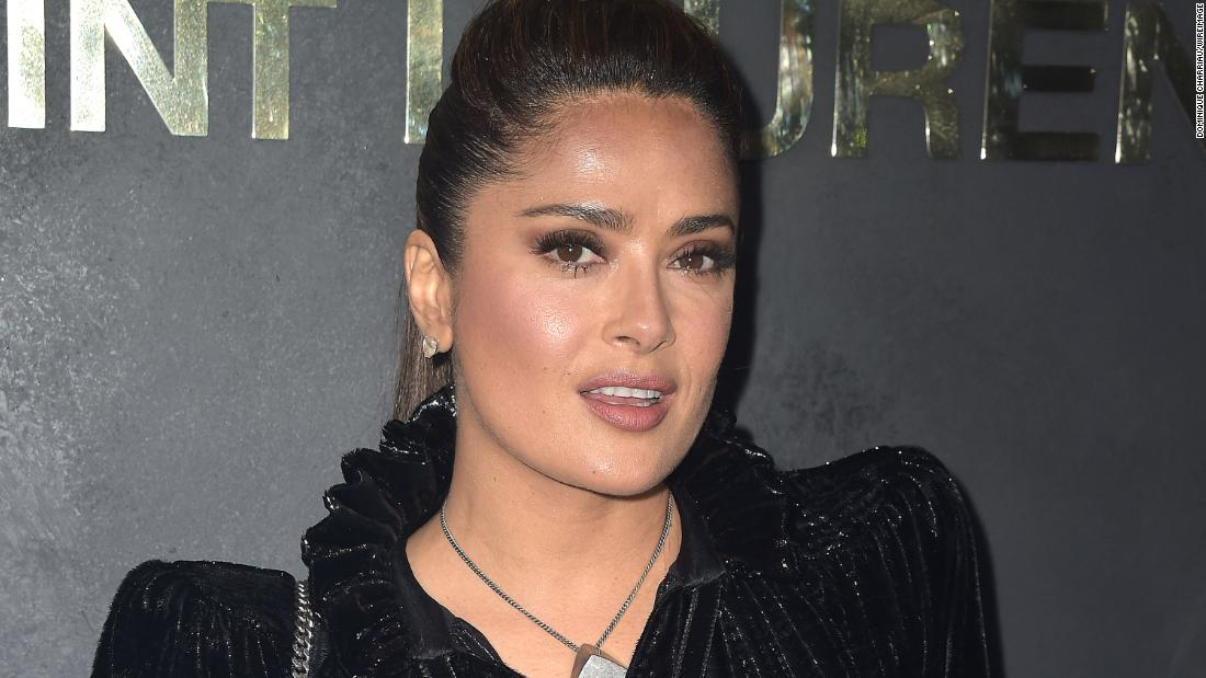 Salma Hayek stripped down after reaching 12 million followers